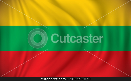 Flag of Lithuania stock vector clipart, Flag of Lithuania - vector illustration by ojal_2