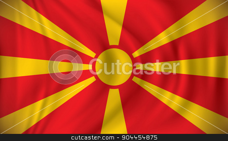 Flag of Macedonia stock vector clipart, Flag of Macedonia - vector illustration by ojal_2