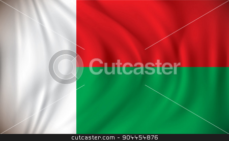 Flag of Madagascar stock vector clipart, Flag of Madagascar - vector illustration by ojal_2