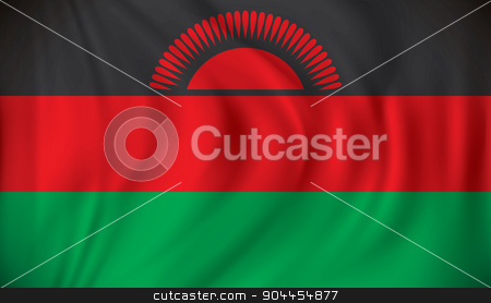 Flag of Malawi stock vector clipart, Flag of Malawi - vector illustration by ojal_2