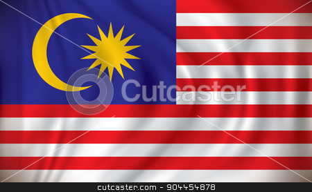 Flag of Malaysia stock vector clipart, Flag of Malaysia - vector illustration by ojal_2