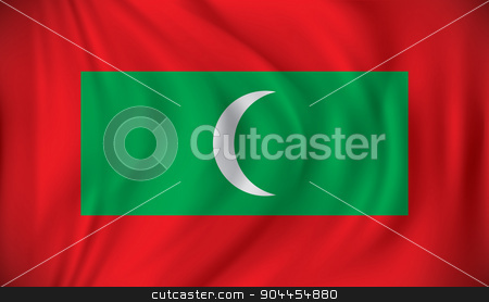 Flag of Maldives stock vector clipart, Flag of Maldives - vector illustration by ojal_2