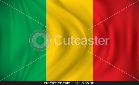 Flag of Mali stock vector clipart, Flag of Mali - vector illustration by ojal_2
