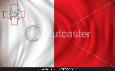 Flag of Malta stock vector clipart, Flag of Malta - vector illustration by ojal_2