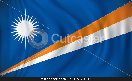 Flag of Marshall Islands stock vector clipart, Flag of Marshall Islands - vector illustration by ojal_2