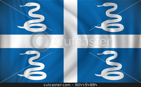 Flag of Martinique stock vector clipart, Flag of Martinique - vector illustration by ojal_2