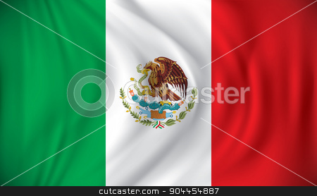Flag of Mexico stock vector clipart, Flag of Mexico - vector illustration by ojal_2