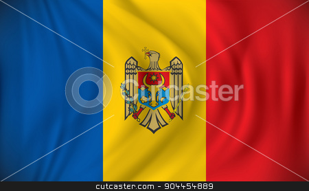 Flag of Moldova stock vector clipart, Flag of Moldova - vector illustration by ojal_2