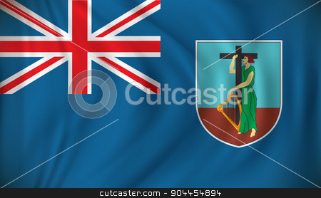 Flag of Montserrat stock vector clipart, Flag of Montserrat - vector illustration by ojal_2