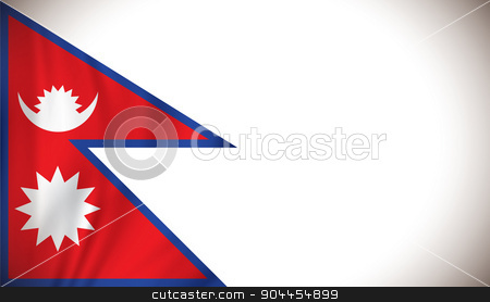 Flag of Nepal stock vector clipart, Flag of Nepal - vector illustration by ojal_2