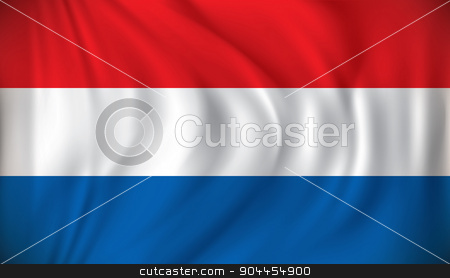 Flag of Netherlands stock vector clipart, Flag of Netherlands - vector illustration by ojal_2