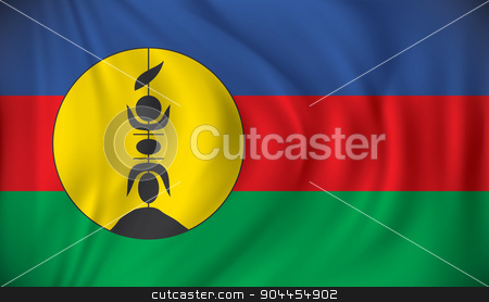 Flag of New Caledonia stock vector clipart, Flag of New Caledonia - vector illustration by ojal_2