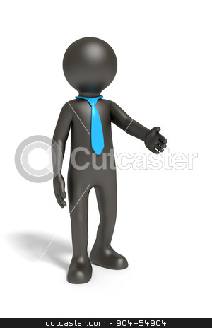 black business man with a blue tie stock photo, An image of a black business man with a blue tie by Markus Gann