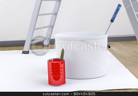 redecorate utensils stock photo, 3d render of some typical redecorate utensils by Markus Gann