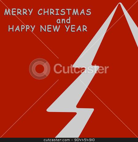 Christmas Greeting Card stock vector clipart, Christmas Greeting Card , Happy New Year Card , Christmas tree , vector illustration  by Pavel Skrivan