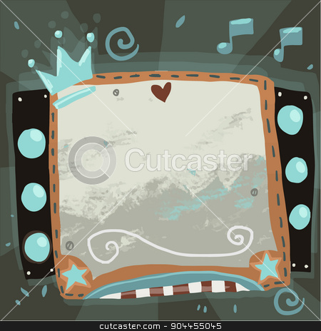Abstract party music sign board design. stock vector clipart, The vector illustration for ui, web games, tablets, wallpapers, and patterns. by lemon5ky