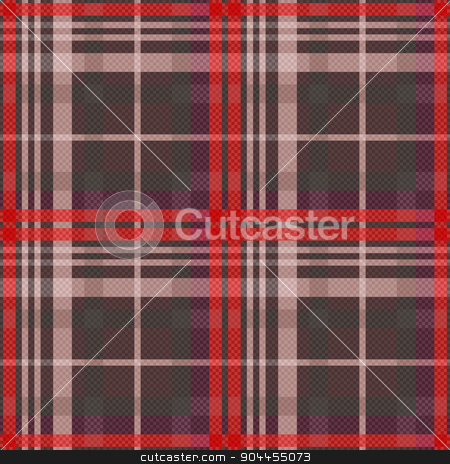 Rectangular tartan seamless texture in muted colors stock vector clipart, Rectangular seamless vector pattern as a tartan plaid mainly in muted red and other colors by Nataliia