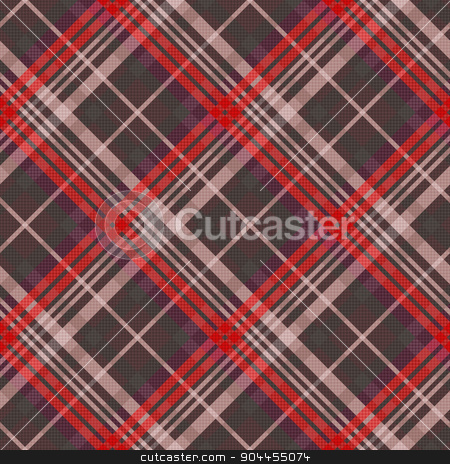 Diagonal tartan seamless texture mainly in muted colors stock vector clipart, Diagonal position of rectangular seamless vector pattern as a tartan plaid mainly in muted red and other colors by Nataliia