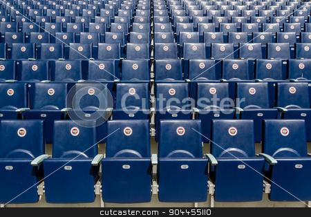 View of Fenerbahce Sukru Saracoglu Stadium in Istanbul, Turkey stock photo, Seats of Fenerbahce Sukru Saracoglu Stadium in Istanbul, Turkey by OZMedia