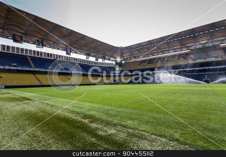 View of Fenerbahce Sukru Saracoglu Stadium in Istanbul, Turkey stock photo, ISTANBUL – CIRCA APRIL 2012 : View of Fenerbahce Sukru Saracoglu Stadium circa April 2012 in Istanbul, Turkey. by OZMedia