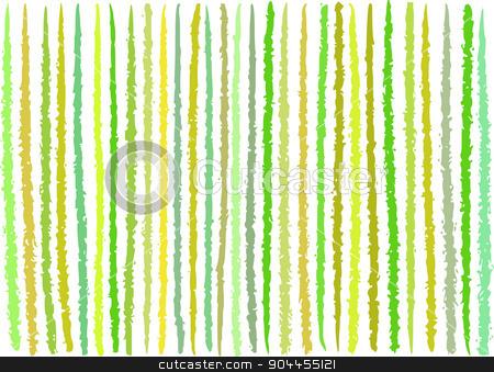 irregular green yellow lines pattern over white stock vector clipart, irregular green yellow lines pattern over white by johnjohnson