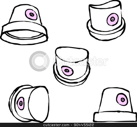 spray can nozzle cap hand drawn on a white background stock vector clipart, spray can nozzle cap hand drawn on a white background by johnjohnson