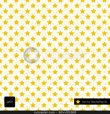 Merry christmas seamless background pattern. stock vector clipart, Vector illustration for web page backgrounds, postcards, greeting cards, invitations, pattern fills, surface textures. With yellow stars. by lemon5ky