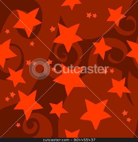 Cartoon red stars pattern. stock vector clipart, The vector illustration for ui, web games, tablets, wallpapers, and patterns. by lemon5ky