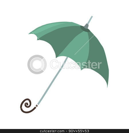Cartoon umbrella flat icon. stock vector clipart, The vector illustration for ui, web games, tablets, wallpapers, and patterns. by lemon5ky