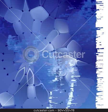 Abstract background, composed of blue sea  stock vector clipart, Abstract background, composed of blue sea bricks different shades by BELL1313