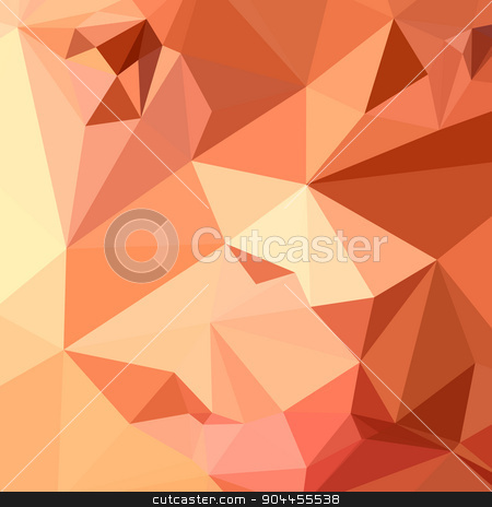 Tango Orange Abstract Low Polygon Background stock vector clipart, Low polygon style illustration of a tango orange abstract geometric background. by patrimonio
