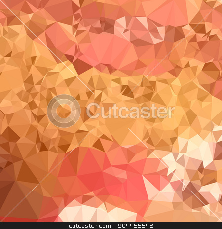 Wild Orchid Abstract Low Polygon Background stock vector clipart, Low polygon style illustration of a wild orchid abstract geometric background. by patrimonio