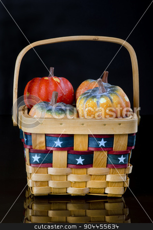 Country Basket. stock photo, Country basket of fresh squash. by WScott