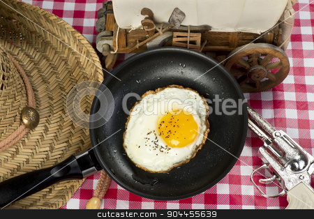 Cowboy Breakfast. stock photo, Cowboy breakfast with all the cowboy toys. by WScott