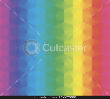 vector colorful background stock vector clipart, vector composition with grid, tiles, 3d effect by Galina Pankratova