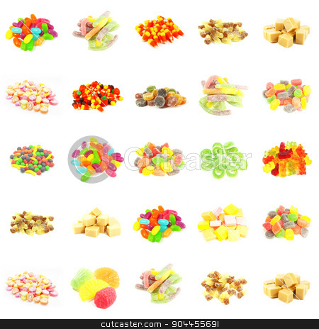 Repeating Candy Background stock photo, Repeating Candy Background and Isolated on White Art by Kheng Ho Toh