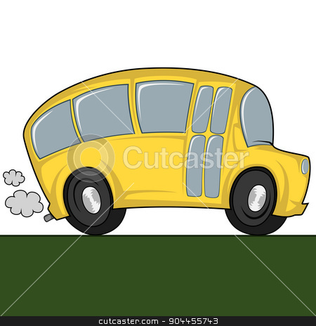 Cool bus stock vector clipart, Funny illustration of a (school) bus by arleevector