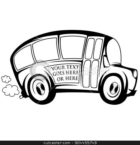 Cool bus stock vector clipart, Silhouette of a (school) bus - you can place any text on by arleevector