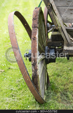 Out of track ripe stock photo, aged horse-drawn carrage with out of track ripe by Bernd Kröger
