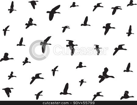 Birds flying stock vector clipart, Birds flying isolated on white by Alexandru Ghidan Daniel