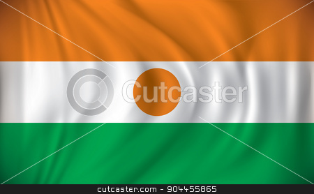 Flag of Niger stock vector clipart, Flag of Niger - vector illustration by ojal_2