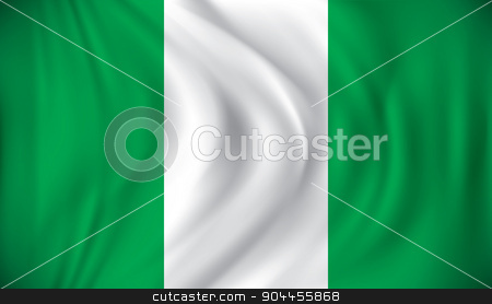 Flag of Nigeria stock vector clipart, Flag of Nigeria - vector illustration by ojal_2
