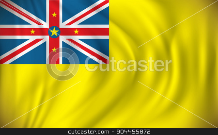 Flag of Niue stock vector clipart, Flag of Niue - vector illustration by ojal_2