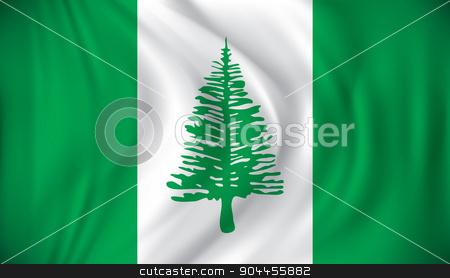 Flag of Norfolk Island stock vector clipart, Flag of Norfolk Island - vector illustration by ojal_2