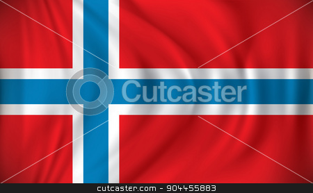 Flag of Norway stock vector clipart, Flag of Norway - vector illustration by ojal_2