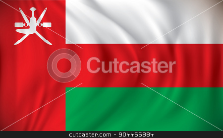 Flag of Oman stock vector clipart, Flag of Oman - vector illustration by ojal_2