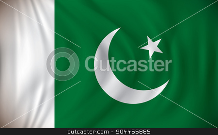 Flag of Pakistan stock vector clipart, Flag of Pakistan - vector illustration by ojal_2