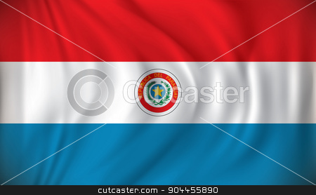 Flag of Paraguay stock vector clipart, Flag of Paraguay - vector illustration by ojal_2