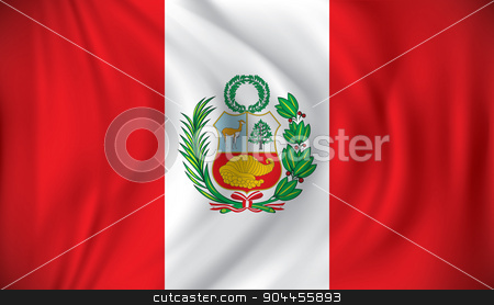 Flag of Peru stock vector clipart, Flag of Peru - vector illustration by ojal_2