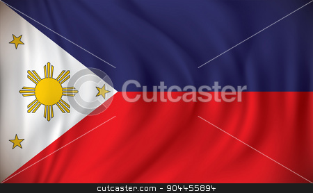 Flag of Philippines stock vector clipart, Flag of Philippines - vector illustration by ojal_2